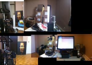 Before and after clean up of room